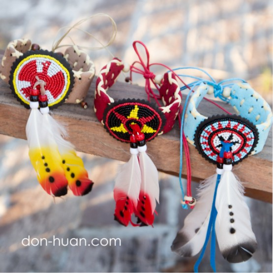Индейский браслет (красный)