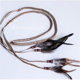Плетеный ремешок из эко-кожи (коричневый)