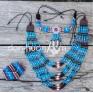 Этно украшения - ожерелье из натуральной кости и кожи