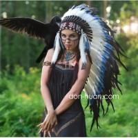 """Головной убор индейца """"Глаз орла"""" (ниже лопаток)"""