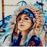 """Индейская шапка """"Дух горной реки"""""""