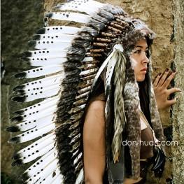 """Шапка вождя индейцев из перьев """"Молодой вождь"""""""