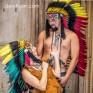 Головной убор индейца «Раста (длина до лопаток)»