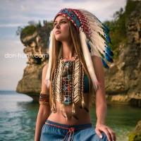 """Головной убор индейца """"Свободная вода"""""""