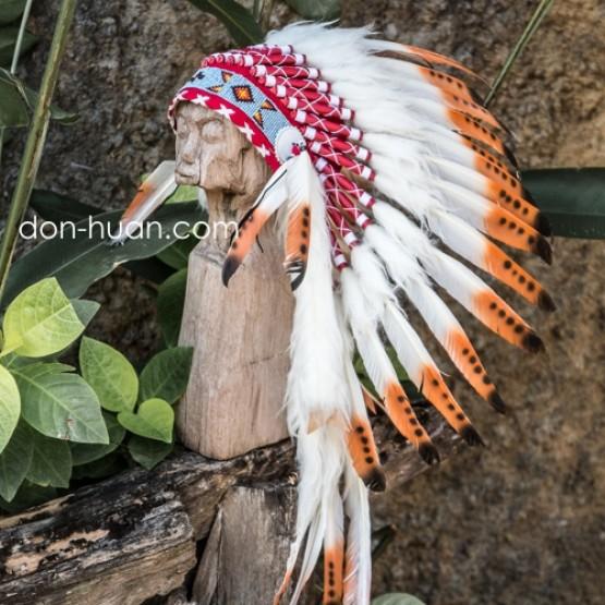 """Индейская шапка из перьев """"Вечерний свет"""""""