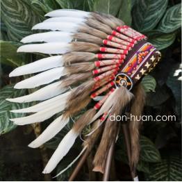 Детский индейский головной убор из перьев