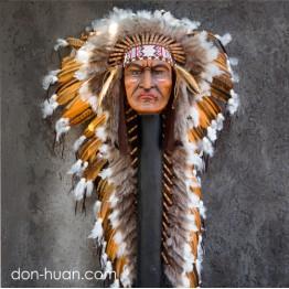 """Индейская шапка """"Золотой рассвет"""""""