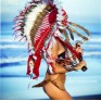 """Индейский головной убор """"Кими"""" (длиной до лопаток)"""