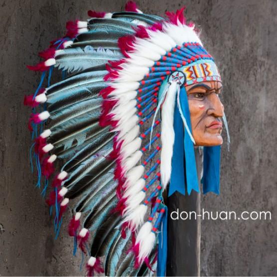 """Головной убор индейца """"Вихо"""" (до лопаток)"""