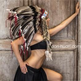 Роуч индейца из перьев индюка «Мэка»