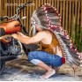 """Индейский головной убор из перьев """"Мэка"""" (длина до бедер)"""