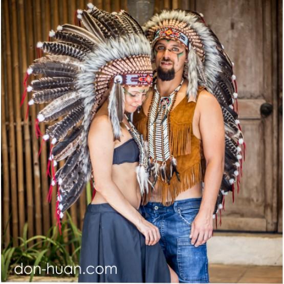 """Головной убор индейца """"Мэка"""" (длиной до лопаток)"""