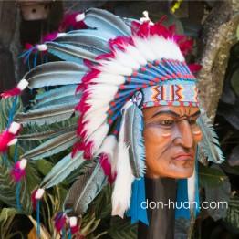 """Головной убор индейца """"Вихо"""" (до плеч)"""