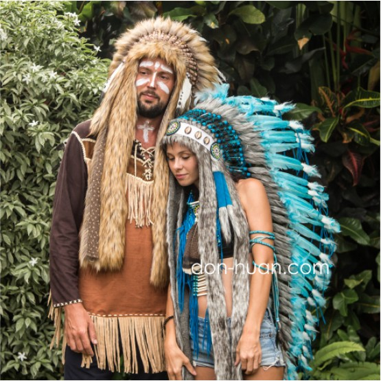 """Шапка индейца """"Доли"""" (длиной до пола)"""